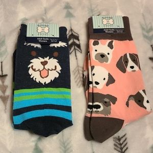 NWT 2 pair fun socks for dog lover 🐶 🐩 🐕